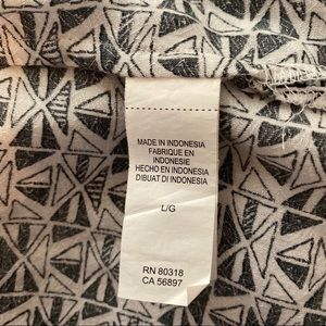 Lucky Brand Tops - Lucky Brand mixed print tank black white large
